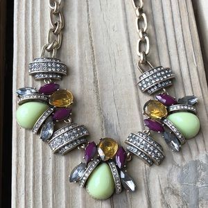 J Crew Pave & Faceted Crystal Chunky Necklace!